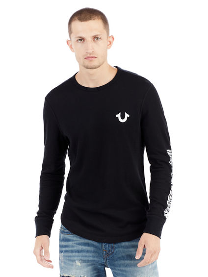 METALLIC VARSITY LONG SLEEVE MENS THERMAL
