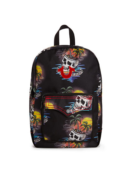 MENS SKULL BACKPACK