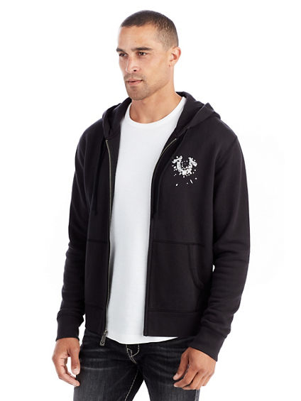 SHATTERED HORSESHOE MENS ZIP HOODIE