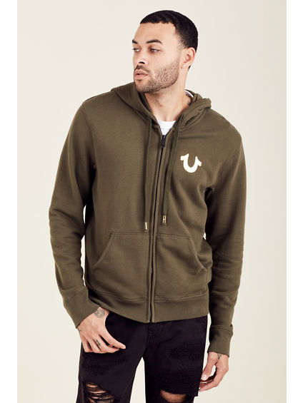 METALLIC DOUBLE PUFF MENS HOODIE