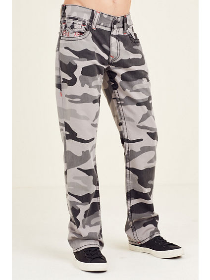 STRAIGHT FLAP CAMO BIG T MENS PANT