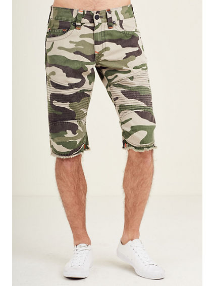 MOTO CUT OFF CAMO MENS SHORT