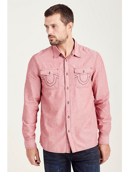 UTILITY CHAMBRAY  MENS SHIRT