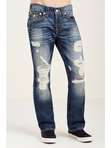 STRAIGHT FLAP DESTRUCT MENS JEAN