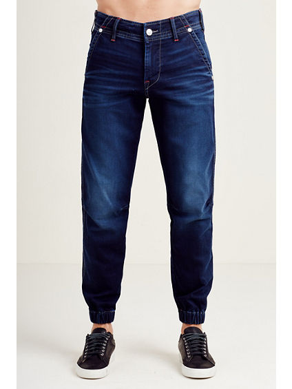 JOGGER FLAP RED STITCH MENS JEAN