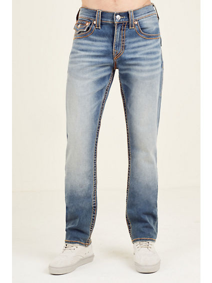 SLIM FLAP RED BIG T WHEAT STITCH MENS JEAN