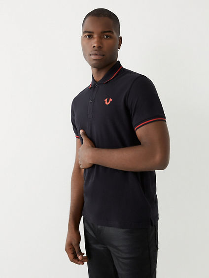 CRAFTED LOGO MENS POLO SHIRT