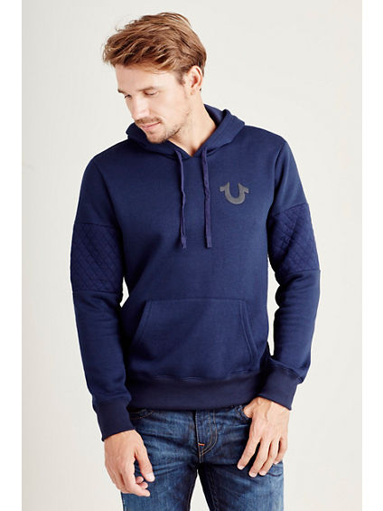HAND PICKED QUILTED PANEL MENS PULLOVER