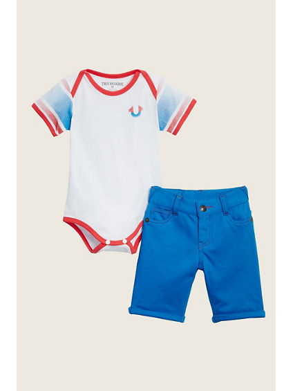 BABY ONESIE WITH SHORT