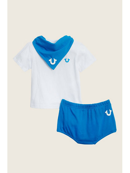 TEE WITH DIAPER AND BANDANA BABY GIFT SET