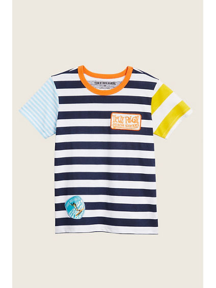 STRIPE GRAPHIC KIDS TEE
