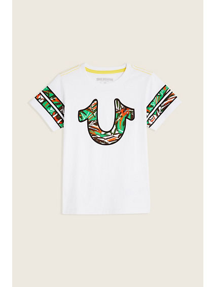 PALM TREE VARSITY KIDS TEE