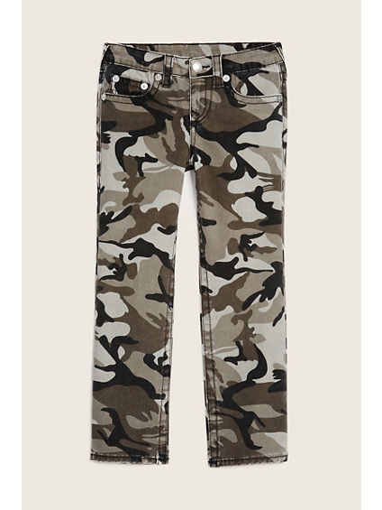STRAIGHT FLAP CAMO KIDS JEAN