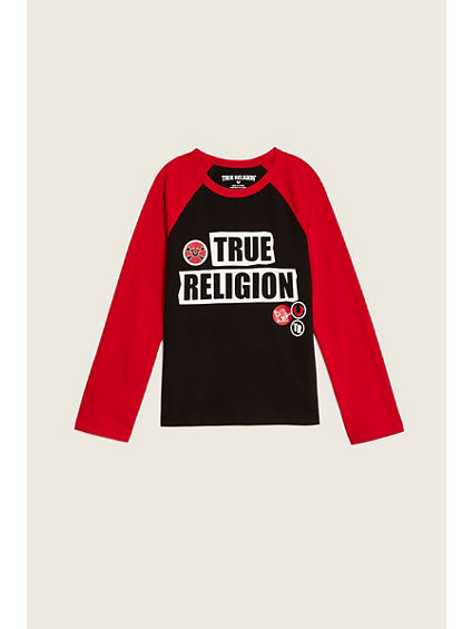 PATCH RAGLAN L/S KIDS TEE