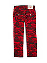 RED CAMO STRAIGHT KIDS JEANS