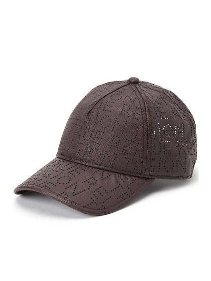 PERFORATED ALL OVER LEATHER BASEBALL CAP