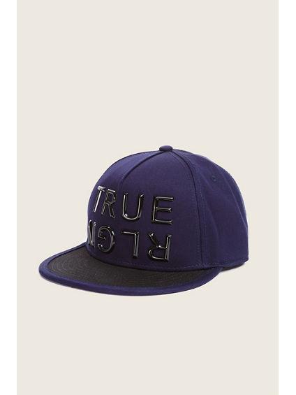 BLOCK LETTER BASEBALL CAP