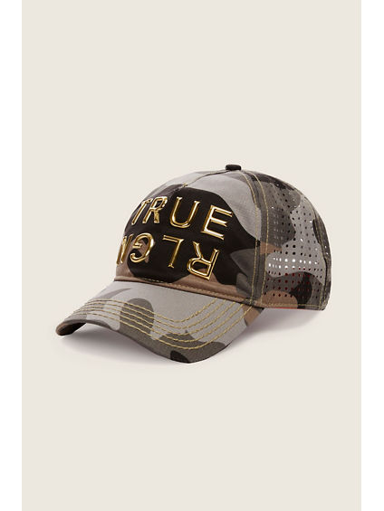 PERFORATED CAMO BASEBALL CAP