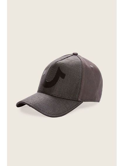 STRAW FRONT BASEBALL CAP
