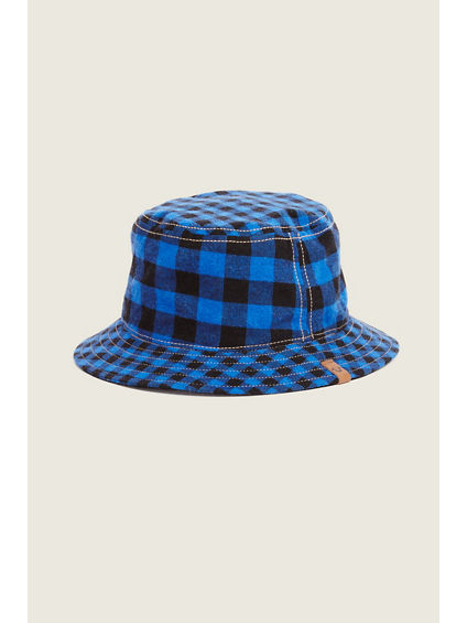 YOUTH BUFFALO PLAID REVERSIBLE BUCKET HAT