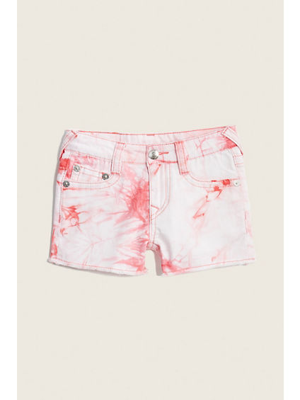 TIE DYE FLAP KIDS SHORT