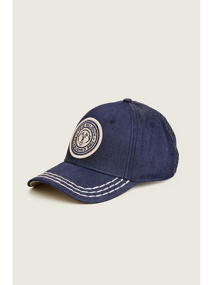 DENIM  CIRCLE PATCH HAT