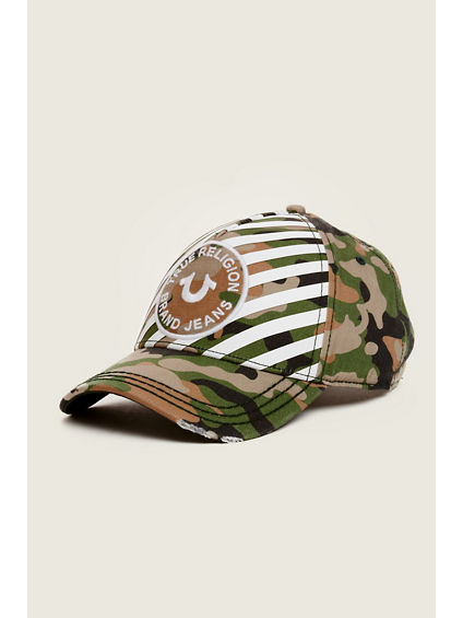 STRIPED CAMO BASEBALL CAP