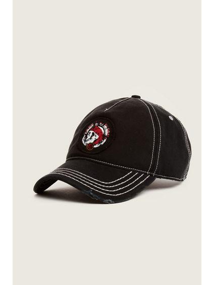 SKULL N ROSE BASEBALL CAP