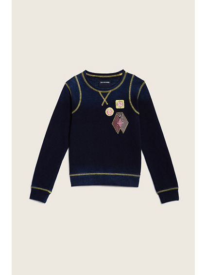 PANELED KIDS PULLOVER