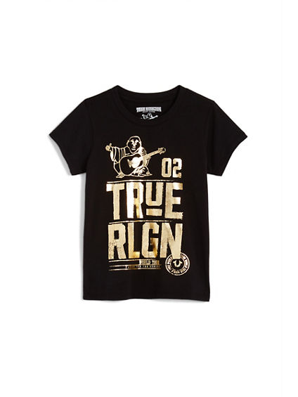 TR SHORT SLEEVE METALLIC FOIL KIDS TEE