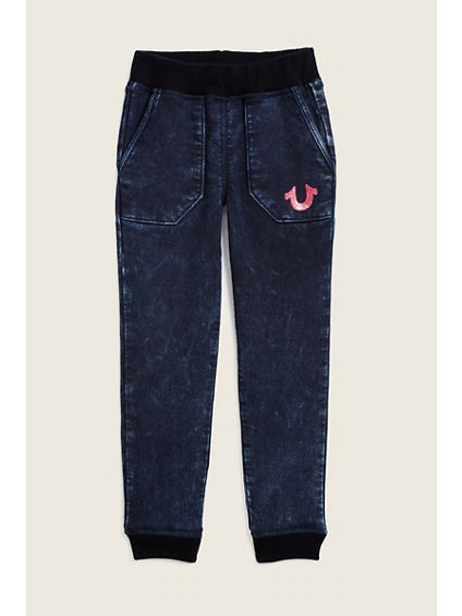 TODDLER/LITTLE KIDS INDIGO MINERAL SWEATPANT