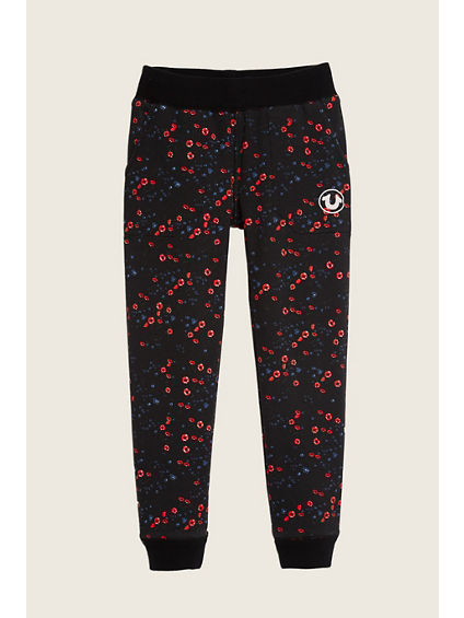 MIDNIGHT FLORAL TERRY TODDLER/LITTLE KIDS PANT