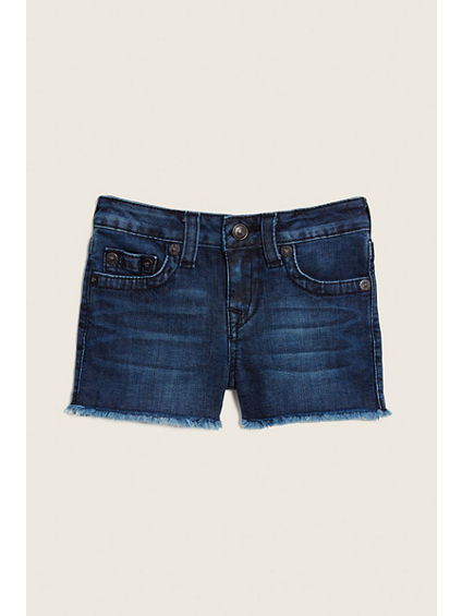 TODDLER/LITTLE KIDS JOEY RAW EDGE SHORT