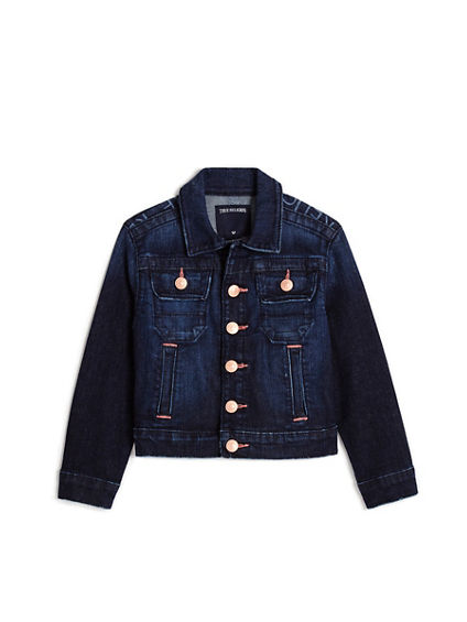 TODDLER/LITTLE KIDS MONOGRAM EMILY DENIM JACKET