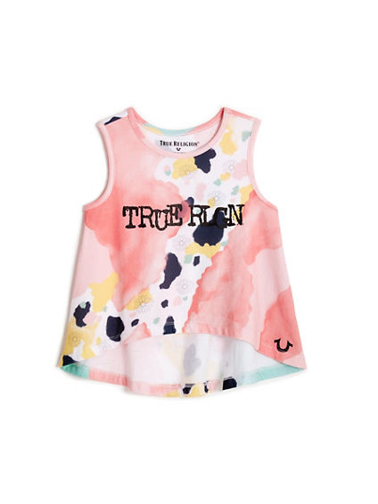 TODDLER/LITTLE KIDS WATERCOLOR PETAL TANK