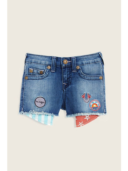 PATCHED CASEY TODDLER/LITTLE KIDS SHORT