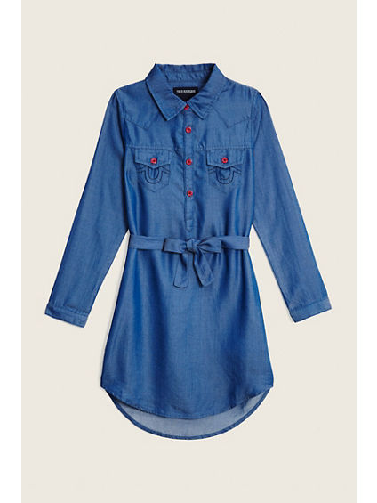 WESTERN TODDLER/LITTLE KIDS SHIRT DRESS