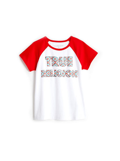 TR RAGLAN TODDLER/LITTLE KIDS TEE