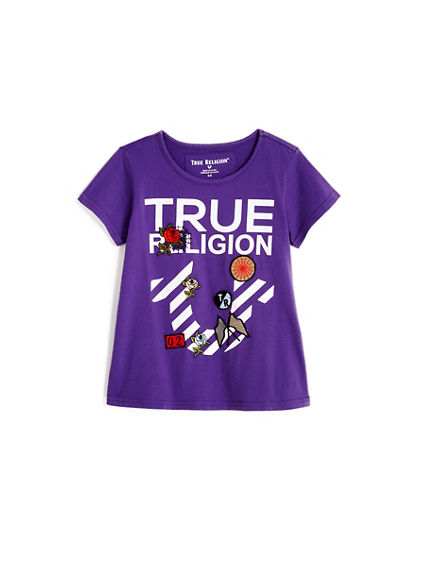 STRIPE HORSESHOE TODDLER/LITTLE KIDS TEE