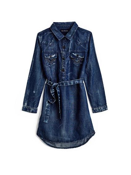 WESTERN SHIRT TODDLER/LITTLE KIDS DRESS