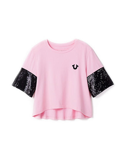 SEQUIN TODDLER/LITTLE KIDS TEE