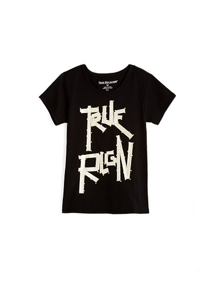 TODDLER/LITTLE KIDS STUDDED TRUE RLGN TEE