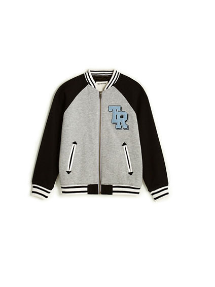 TODDLER/LITTLE KIDS EMBROIDERED VARSITY JACKET