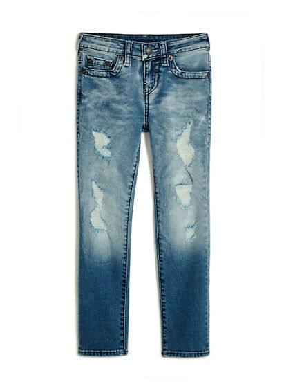 TODDLER/LITTLE KIDS DISTRESSED ROCCO SKINNY JEAN W/ FLAP