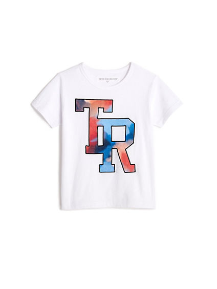 TODDLER/LITTLE KIDS WATERCOLOR EMBROIDERED GRAPHIC TEE