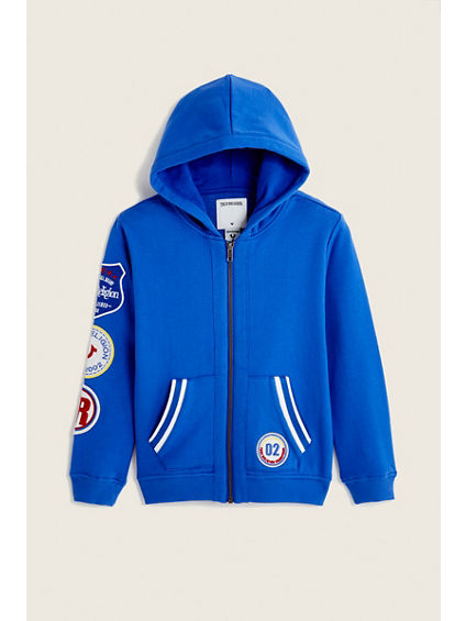 RETRO PATCH TODDLER/LITTLE KIDS HOODIE