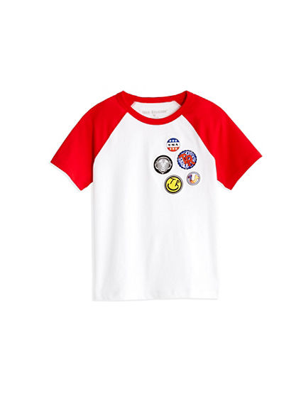 BUTTON TODDLER/LITTLE KIDS TEE