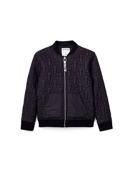 NYLON QUILTED TODDLER/LITTLE KIDS BOMBER