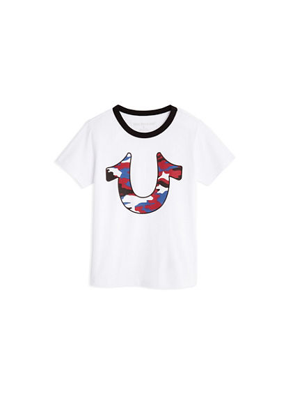 CAMO HORSESHOE TODDLER/LITTLE KIDS TEE
