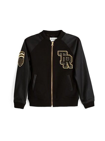 GOLD VARSITY TODDLER/LITTLE KIDS JACKET